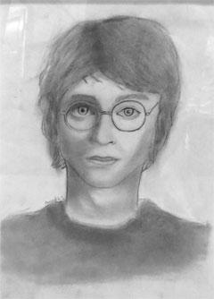 Amund Kårstad Sunde fekk prisen for teikninga si av Harry Potter.